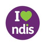 Logo: I heart NDIS