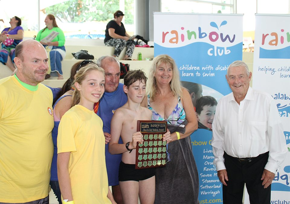 Maroubra Rainbow Club with Ron Siddons and Club of the Year trophy