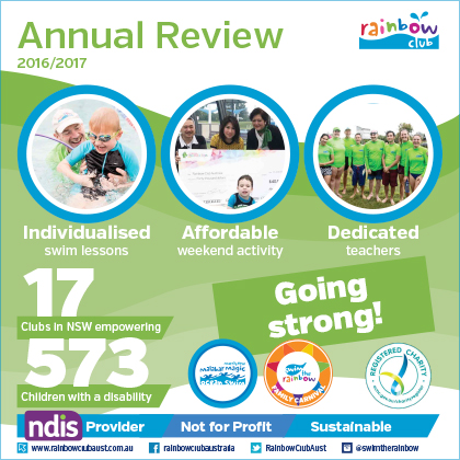 2016/17 Rainbow Club Annual Report Cover