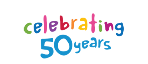 Logo: Celebrating 50 years of Rainbow Club